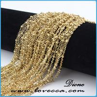 New fashion jewelry raw chain, jewelry making gold chain, raw brass chain