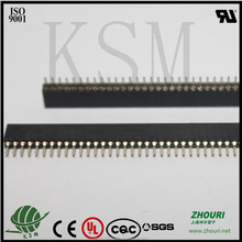 high quality pin pitch 1.27mm single row 50 pin female header electronic connector