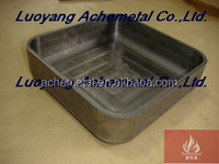 Newest design moly square container from Luoyang professional manufacturer ,Supplied for Large Quantity