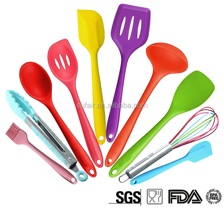 Best wholesale websites food grade non-stick silicone baking utensils set from china supplies