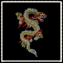 Aprise - Dragon hotfix Rhinestone heat Transfer Iron on T Shirt motif Design
