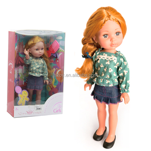 34cm plastic China Real Fashion Beautiful Barbieee Doll for Kids