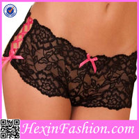 Lover-beauty Floral Pattern Lace Mature Women Girl Underwear