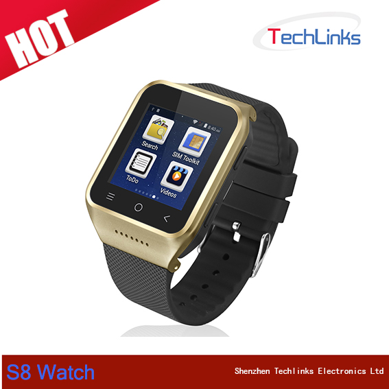 ZGPAX S8 Bluetooth Smart Watch Android 4.4 MTK6572 Dual Core 1.5 Inch GPS 2.0MP Camera WCDMA WiFi MP3 MP4 Smartwatch