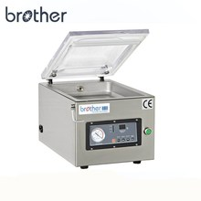 WenZhou Brother Semi Automatic Table Top Machine Plastic Bag Bottle Dry Fish Food Nitrogen Vacuum Packing Sealer