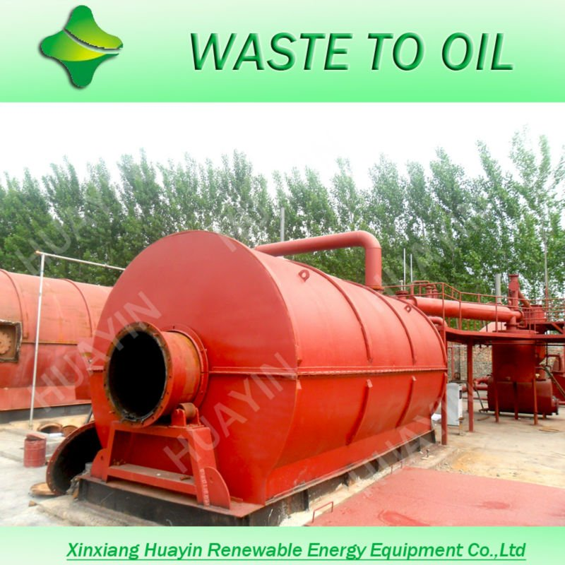 Refining Tires To Diesel For Generator, Tyre Pyrolysis Equipment With European Standard