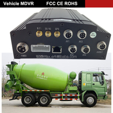 3G realtime GPS tracker system Hard drive MDVR for mixer lorry surveillance