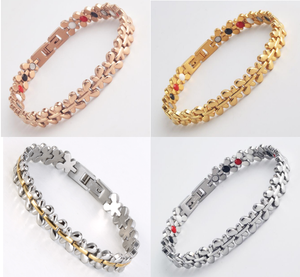 Hot Sale 2018 New gold Bracelet Designs 316 Energy Bracelet Stainless steel Health Energy Bracelet