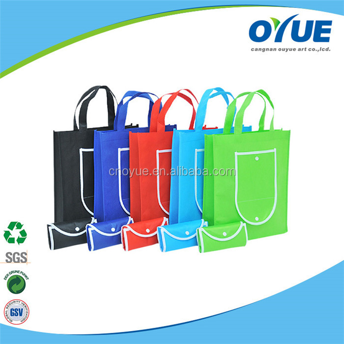 Widely use folding recyclable tote laminated promotion non woven bag