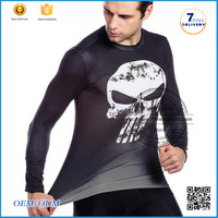 2016 Fashion Dri Fit Compressed Men T-shirt cotton Fitness Compression Shirt men's new pattern shirts