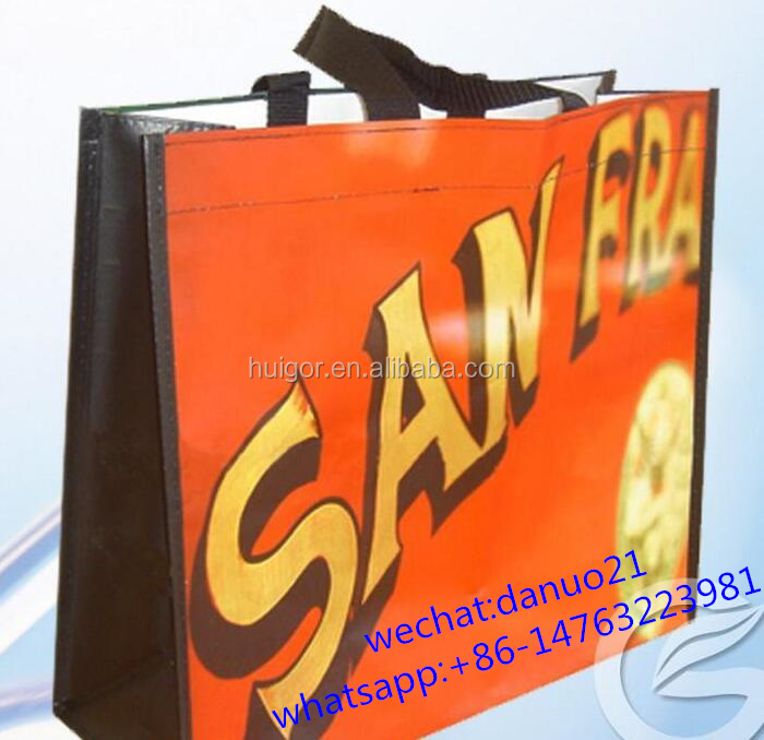 Promotional laminated PP non-woven bag, nonwoven bag,non woven shopping bag