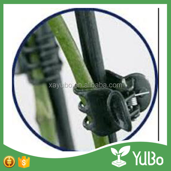Cheap black plastic butterfly plant support clip for greenhouse planter