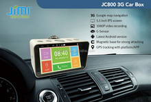 JIMI 1080P smart car DVR vedio recorder gps google map navigator with 3G Andriod system gps tracking.