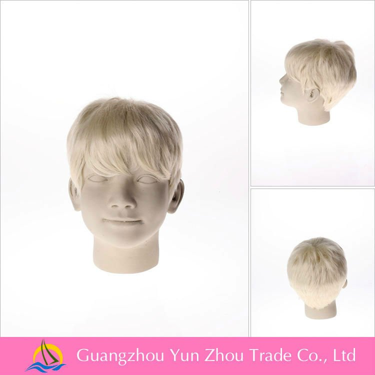 Heat resistant synthetic female mannequin head for wigs