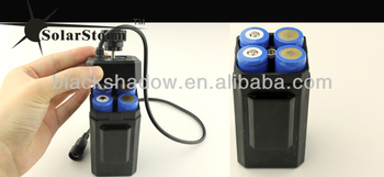 Solarstorm BC-1 rechargeable water-proof 4*18650 li-ion battery case used for bike light