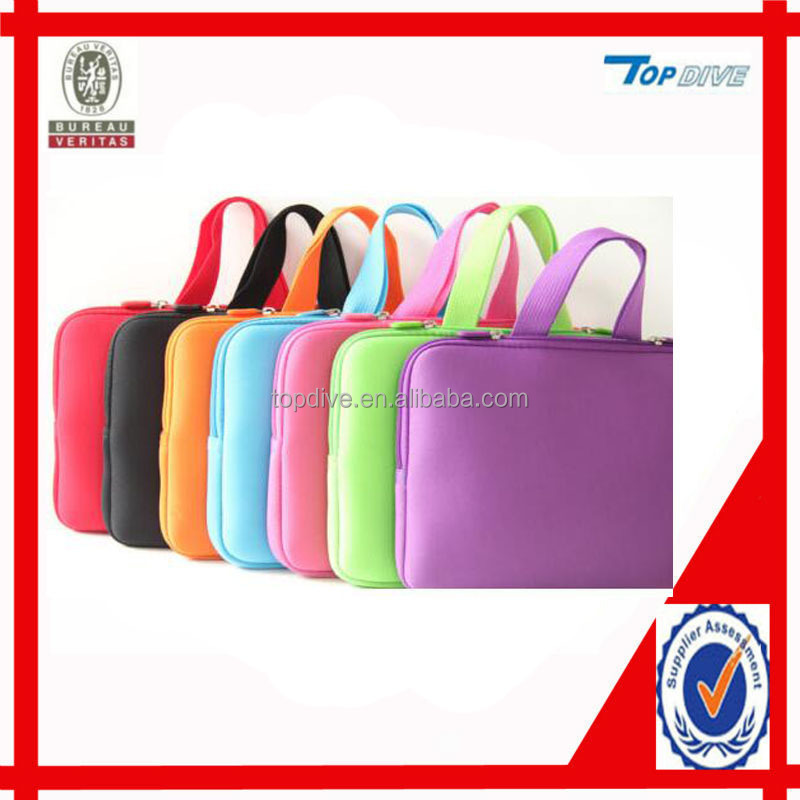 red neoprene laptop sleeve bag