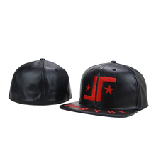 waterproof plastic letters leather snapback hat