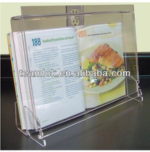 Acrylic book open display stand for library