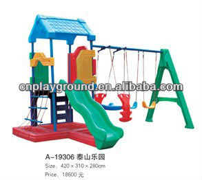 Hot Popular Sale Garden Combination Playground Swing Slide(A-19306)