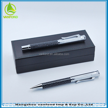 Classic box set metal ball pen with logo for gift