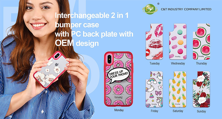 CTUNES Lips Prints Pattern Design Case for Iphone 7 TPU Polycarbonate Interchangeable Back Bumper Case For Apple iPhone 7 Plus