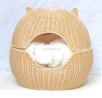 Factory Direct Price Pet Products Rattan two in one Cat Bed