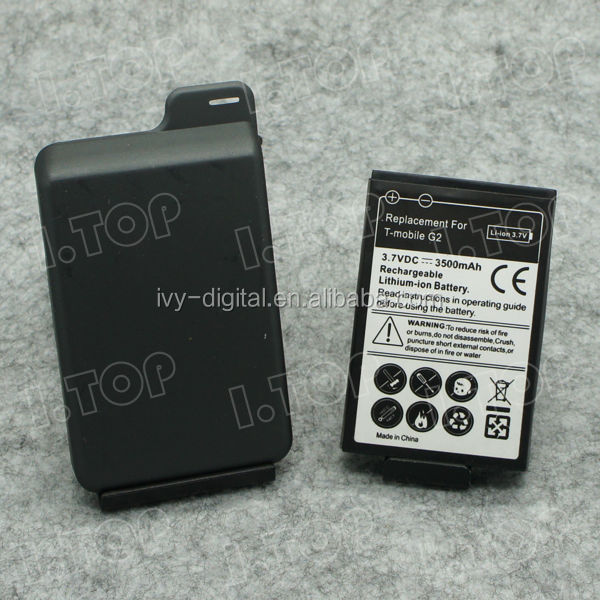 Extended Mobile battery for HTC Google G2 with Back Cover