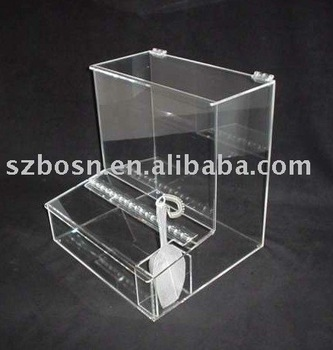 Acrylic Candy Box, Perspex Candy dispenser, Lucite Candy Bin