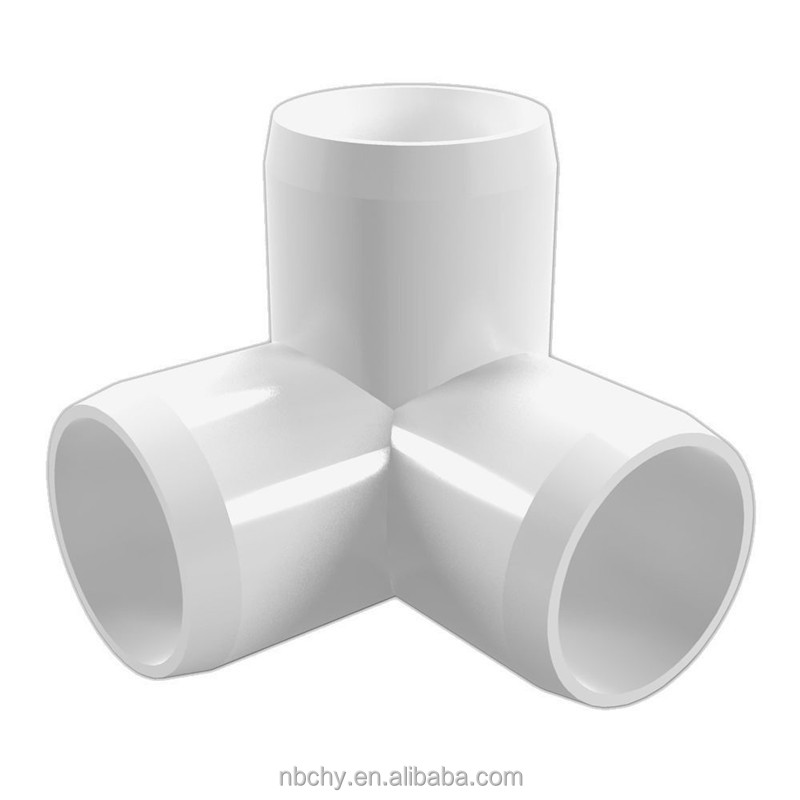 "1/2"" 3-Way PVC Elbow Fitting - Furniture Grade"