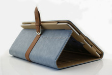 Belt leather cover case for iPad mini with factory price