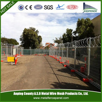 Hot dipped galvanized temporary fence removable fence
