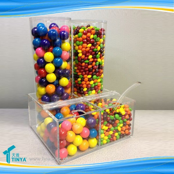 Eco-friendly Clear Acrylic Candy Display Cases Acrylic Mini Gravity Bin
