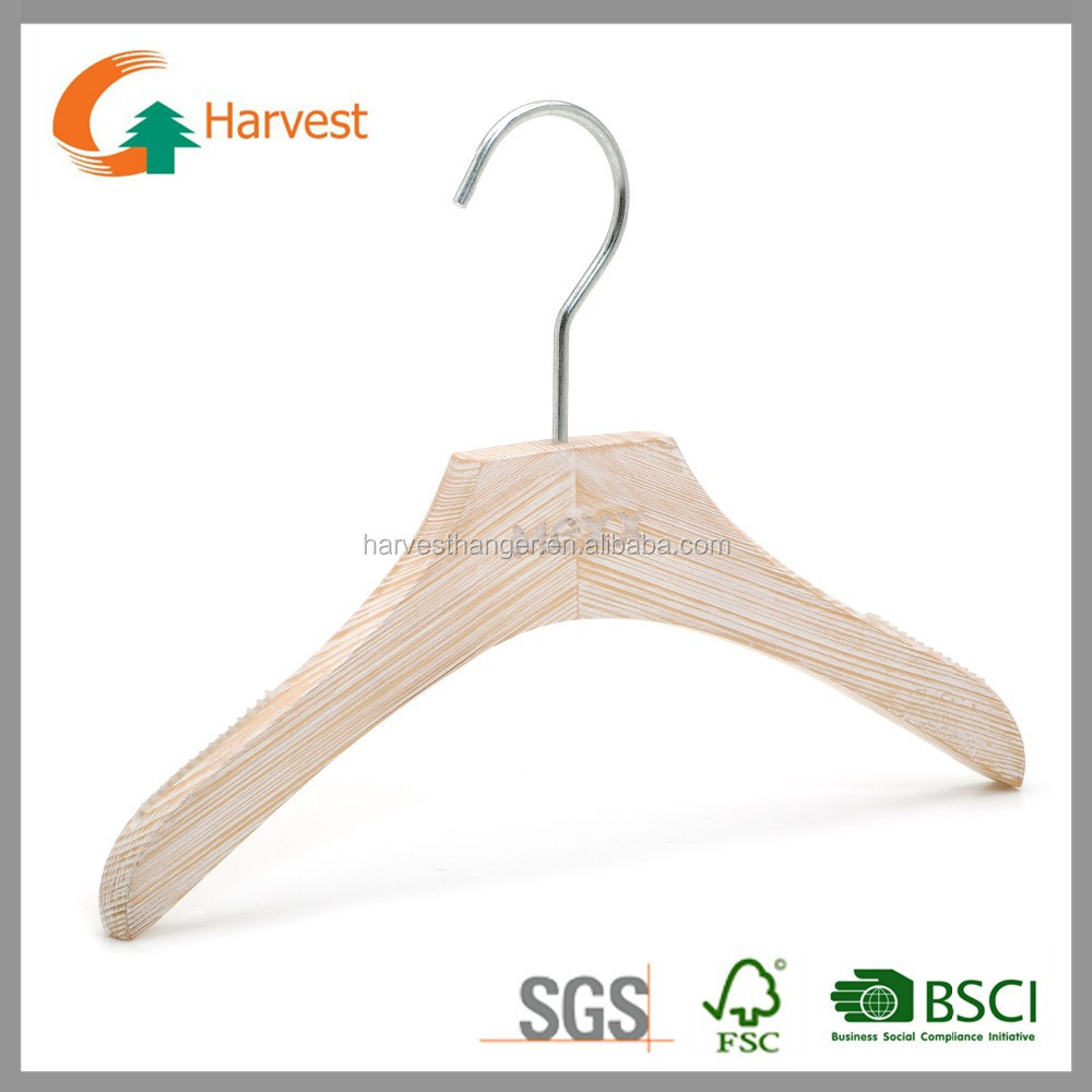 Custom garment display kids wooden hanger