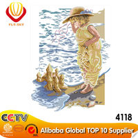 2015 Lovely Girl Diy Oil Painting for Kids's Gift (40*50cm)