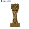 Factory price cheap resin bronze ice hockey trophy cup for winner