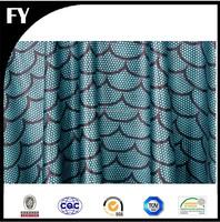 Factory digital lycra spandex fish scale print fabric