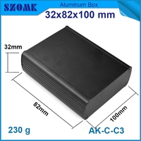 LED supply project box aluminum enclosure industrial case housing in black color ,and anodizing and powder coating
