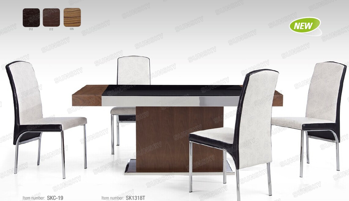 High quality living room Furniture modern wooden glass Dining Room Furniture dining tableSK1318T