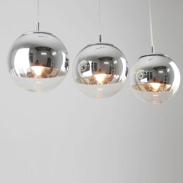 moderne glas pendelleuchte spiegelkugel lampe kronleuchter. Black Bedroom Furniture Sets. Home Design Ideas