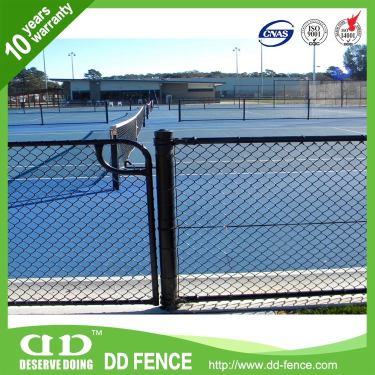 Low carbonpvc covered / insulated/ temporary chain link fence made in China