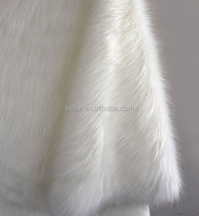 Long pile faux fox fur fabric