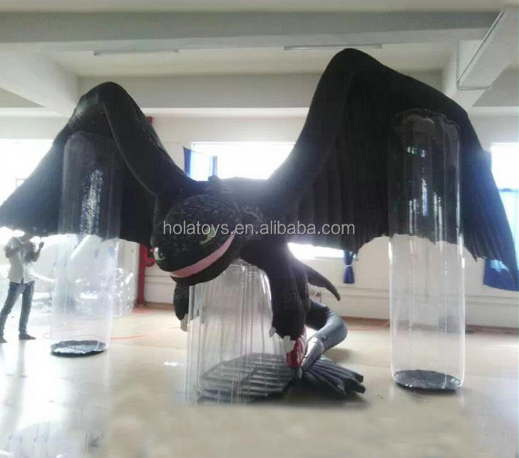 Hola cartoon inflatable toothless dragon/toothless inflatable/inflatable mascot