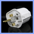 British Standard Plug to European Jack Socket 16A 250V 3 Flat Pin UK Power Plug Adapter