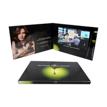 High end video greeting <strong>cards</strong> supplier 7 inch lcd tft screen display recordable electronic brochure leaflet for car motor show
