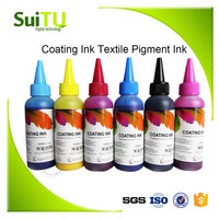 small package 100ml coating ink digital textile pigment ink for DX5 DX7 printhead printing on t-shirt