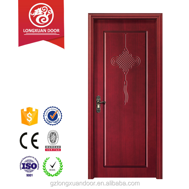 China style interior MDF wooden flush door design for room
