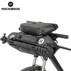 ROCKBROS Waterproof Bicycle Handlebar Bag Cycling Front Pack Bike Front Tube Basket Pannier Large Capacity Detachable Bike Bags