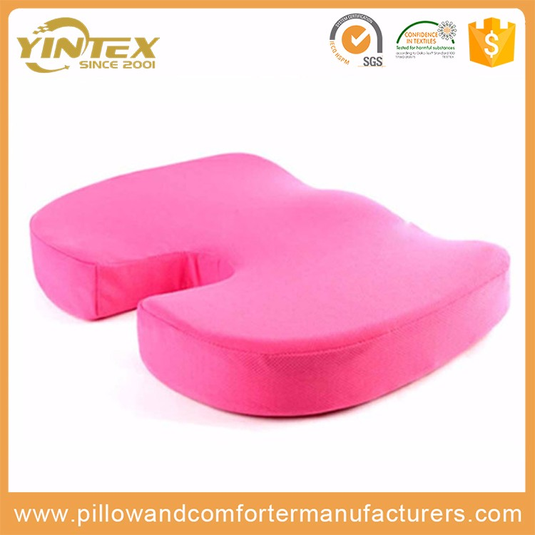 China made coccyx orthopedic comfort foam seat back support cushion