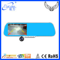 5'' TFT Screen Android 4.4 GPS Tracking Rearview Mirrow Car dvr black box