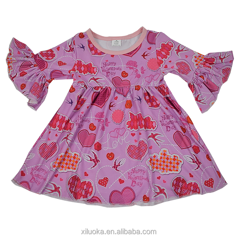 Hotest Style Baby Dress Valentine's Day New Boutique Fit Dress For Girl